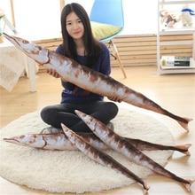 70 CM Simulation Stuffed Animal Saury Fish Creative Plush Dolls Autumn Knife Fish Pillows Home Cushion Decor Toys For Gift BF090