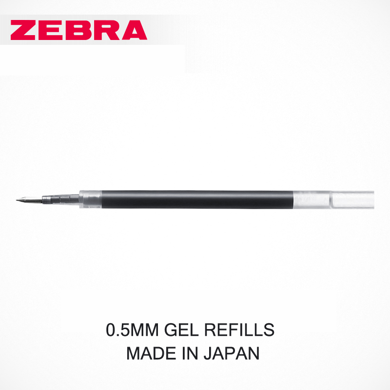 JIANWU 10pcs/set  Japan Zebra JF-0.5 gel pen Refill Quick drying Refill  Apply to JJZ15/JJ2/JJ9 jianwu 10pcs set japan zebra jf 0 5 gel pen refill quick drying refill apply to jjz15 jj2 jj9