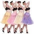 Бесплатная доставка! 50 s рокабилли подъюбники тюль свадебные нижняя юбка пром кринолайн мягкие ткани 6 цвет
