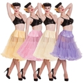 Free Shipping ! 50s Rockabilly Petticoat Tulle Wedding Bridal Petticoat Prom Crinoline Soft Fabric 6 Color