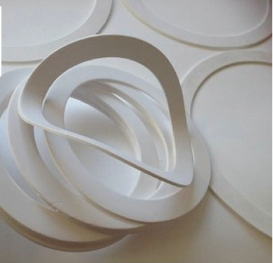 1x Custom Made Expanded PTFE Gasket Soft Teflon Washer Spacer Pad Teflon Foam Mat White custom made 1x dn450 ptfe teflon flat washers insulation sealing spacer gasket 532mm x 478mm x 3mm od532mm id478mm thick 3mm f4