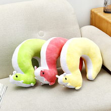 The squirrel cartoon type U cervical pillow neck protecting pillow 37*24cm free shipping недорого