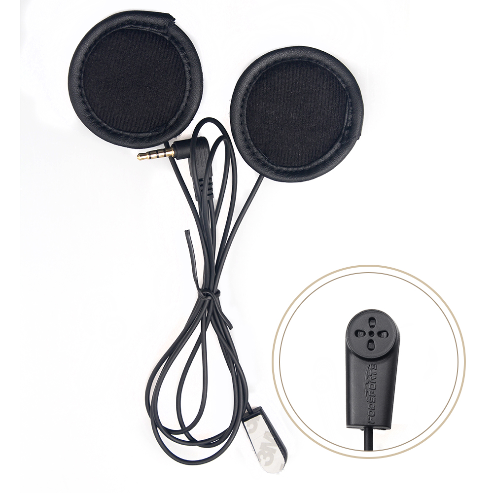 2018 Updated V6 Soft Earphone With Microphone Stereo Headset For V6 V4 Motorcycle Helmet Bluetooth Intercom BT Interphone