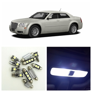17Pcs Canbus White LED Lights Bulbs Interior Package Kit For 2005-2010 Chrysler 300 300C 300M Map Dome Trunk License Plate Light(China)