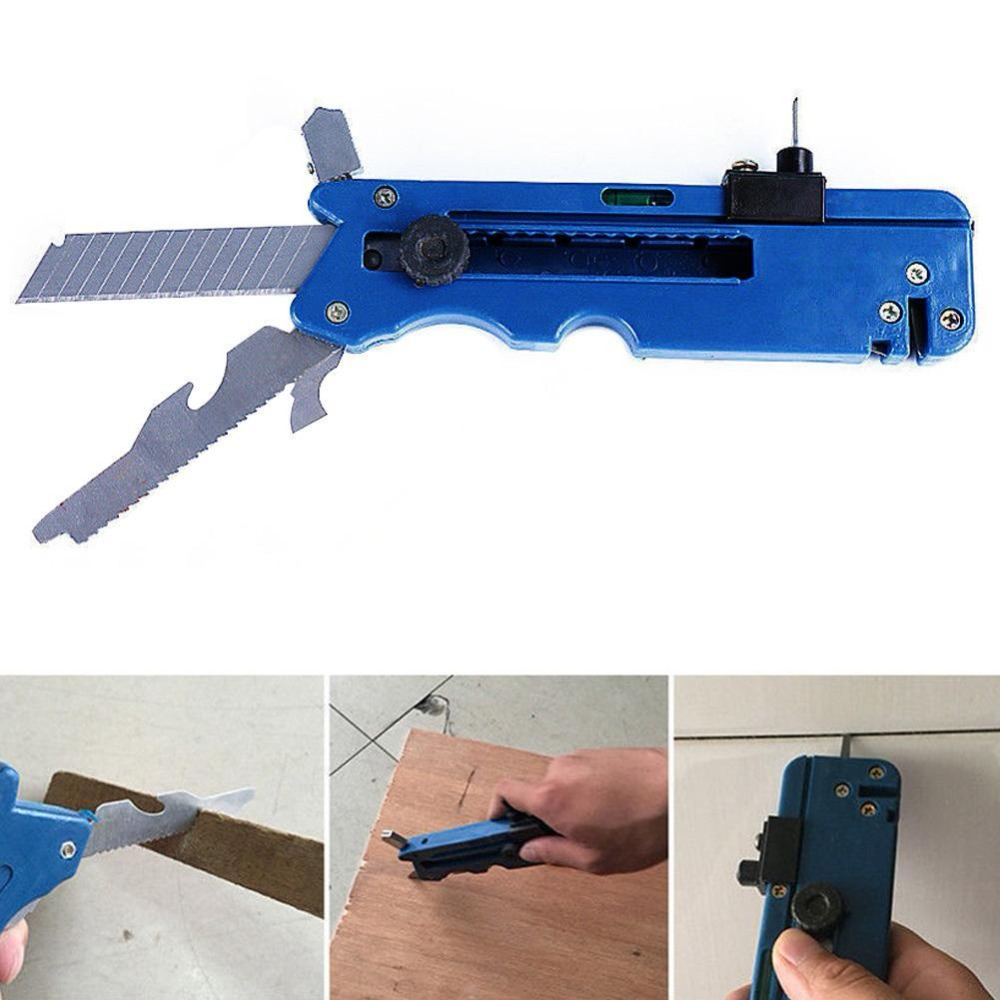 Multifunction Glass Tile Professiona Measure Ruler With Glass Six Wheel Metal Cutting Kit Tool