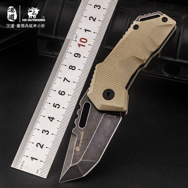 8Cr14MOV Blade G10 Hanlde Tactical Folding Pocket Knife EDC Survival Knife Jungle Field Knife Hunting Outdoors Camping knife