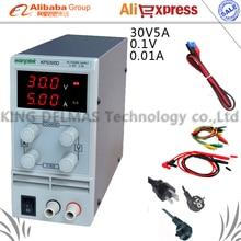305D Regulowany Wysoka precyzja podwójny wyświetlacz LED przełącznik funkcji ochrony Zasilania DC 0-30 V/0-5A 110 V-230 V 0.1 V/0.01A UE