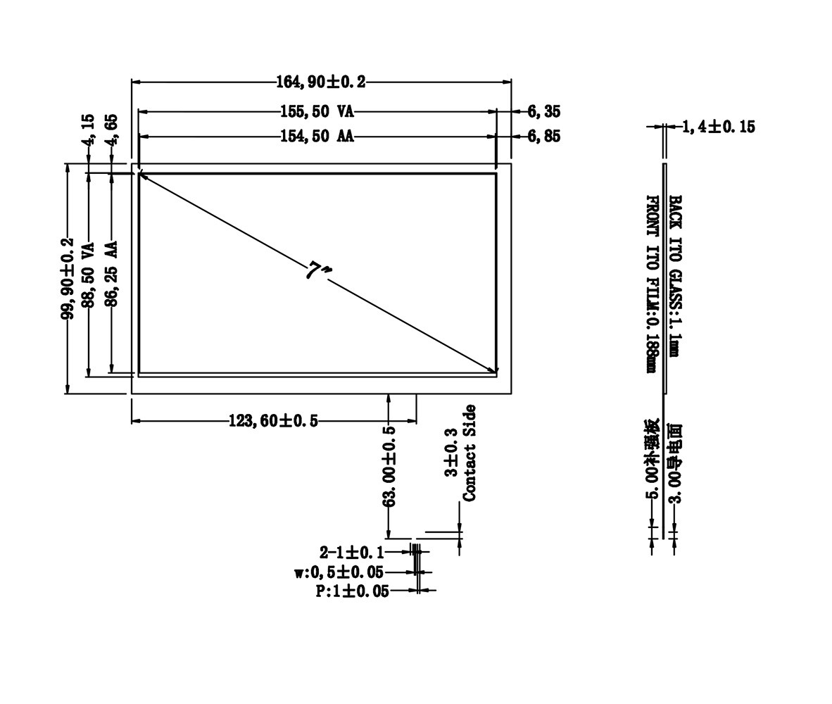 6.1 inch Resistive Touch Screen Panel 144.4mmx84.3mm 4Wire USB kit for 6.1 Monitor