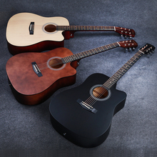 Black Guitar 41 inch 2019 New Acoustic Folk Guitar Rosewood Fingerboard Guitarra for Beginner Practice AGT36 new saysn high quality 41 walnut acoustic guitar rosewood fingerboard oil varnish beginners guitarra with backpack strap capo