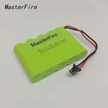 MasterFire 4PACK/LOT New Original 6V 1800mAh 5x AA Ni-MH RC Rechargeable Battery Pack for Helicopter Robot Car Toys with Plugs