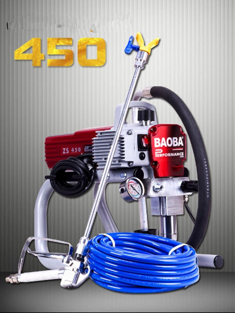 NEW High-pressure New Airless Spraying Machine Professional Airless Spray Gun Airless Paint Sprayer 450 Painting Machine Tool