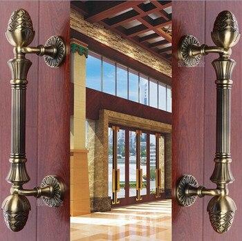 420mm 520mm Top quality bronze wooden door handles pulls antique bronze home ,KTV  office hotel wooden door handles