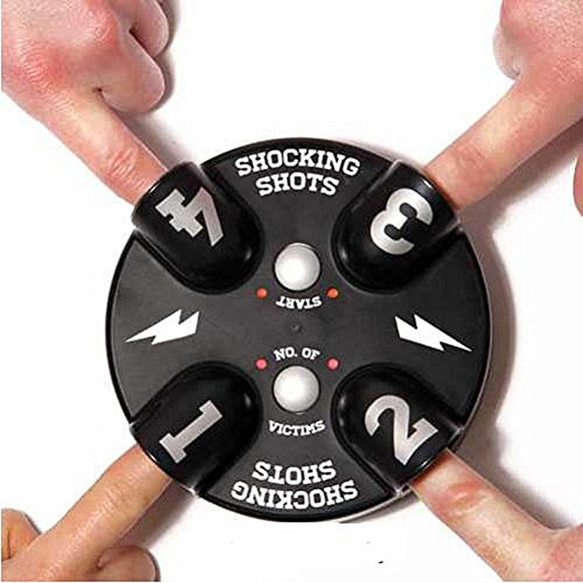 1PCS Lucky Electric Finger Game Machine Electric Shocking Roulette Punishment Props Party Funny Game Toy Tricky Fingers Toy