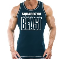 Men's Singlets Fitness Breathable Sweatshirt Sleeveless Muscle Male Vest tank Top printed Clothing stringer cotton fashion