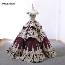 J66705 jancember quinceanera Kleider 15 weg von der schulter ballkleid bodenlangen mädchen abendkleider vestidos de quinceaneras