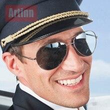 Metal Spring Hinge Polarized Sunglasses Men Brand Design Aviation Pilot Sun Glasses Retro Driving Goggles Alloy 2019