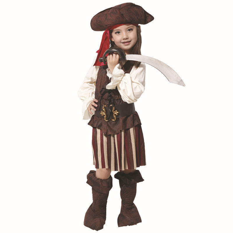 Boys Caribbean Pirate Fancy Dress Costume Kids Book Week Halloween Child Outfit