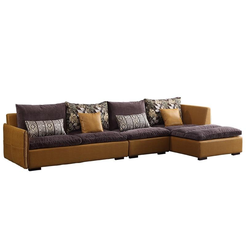 Латексный нордический тканевый комбинированный диван для гостиной большой размер диван