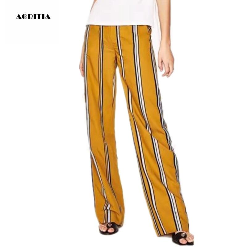 hottest sale 100% genuine hot sale online 2017 Summer Women Bell Bottom Elastic Trousers Wide Leg ...