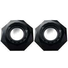 лучшая цена Free Shipping Mini USB Speaker Black Powered Stereo Speaker 3W*2 for Notebook Laptop PC