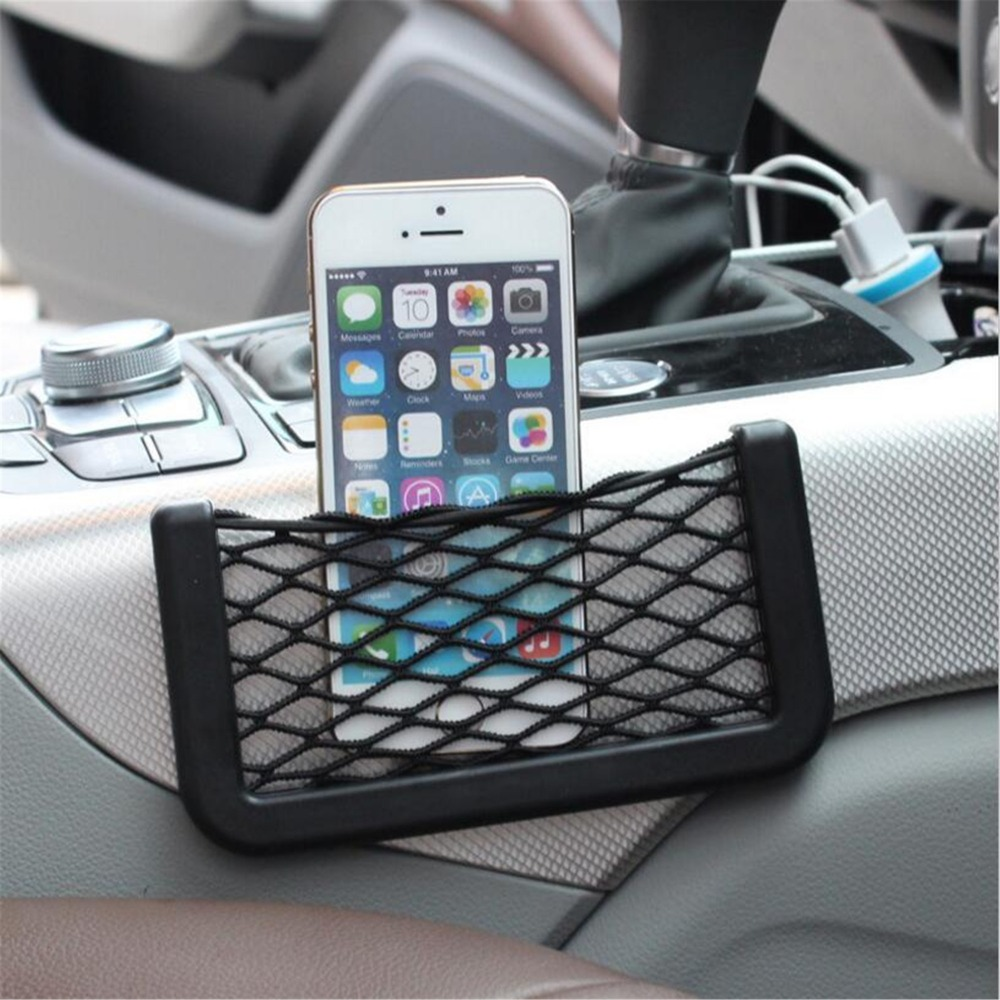 1Pc Car paste net bag Multi-function storage For Audi Q3 Q5 SQ5 Q7 A1 A3 A4 A4L A5 A6 A6L A7 A8 S5 S6 S7 TT TTS Any Cars