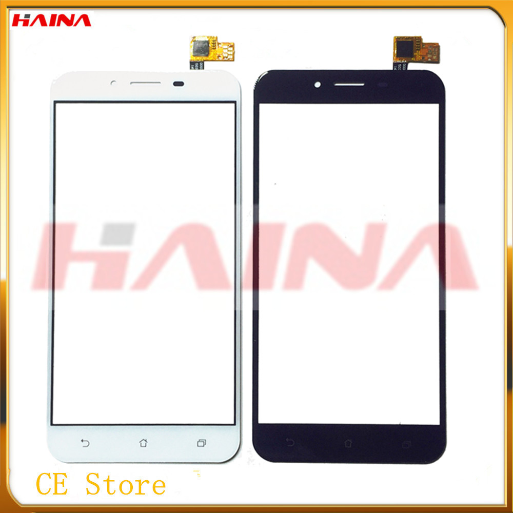 With Tape Moible Phone Touchscreen For Asus Zenfone 3 Max Touch Smartphone Touch Screen Digitizer Panel Front Glass Lens Sensor