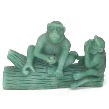 7.28 Monkey Statue Natural Green Aventurine Crystal Carved Crafts Home Decor Collection