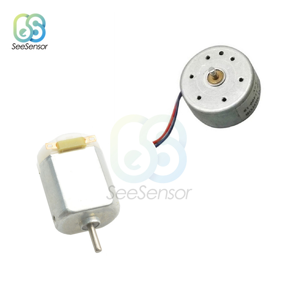 10Pcs 1.5V-<font><b>9V</b></font> <font><b>DC</b></font> Hobby <font><b>Motor</b></font> Type 300 <font><b>DC</b></font> <font><b>Motor</b></font> for Solar Panel Perfect DIY Accessories for Toys Hobbies Hobby Smart Car image