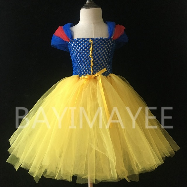 1fb89c36c3231 US $9.98 |New Girls Princess Tutu Dress Kids Crochet Tulle Tutus Ball Gown  with Ribbon Bow Children Snow White Cosplay Party Dress Clothes-in Dresses  ...