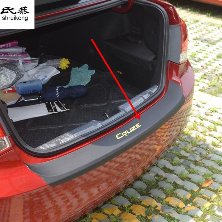 1 pz adesivo auto in fibra di carbonio texture in pelle PU tronco davanzale del portello decorativo della copertura per il 2009-2017 Chevy Chevrolet cruze tutti i modelli