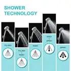 LOY 5 Function Adjustable Jetting Shower Filter High Pressure Water Saving Shower Head Handheld Water Saving Shower Nozzle - 4