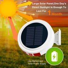 GSM alarma inalámbrica sistemas de seguridad para hogar alimentado por energía Solar SMS Push Auto Dail con Sensor de movimiento PIR Sensor de puerta para el hogar/RV