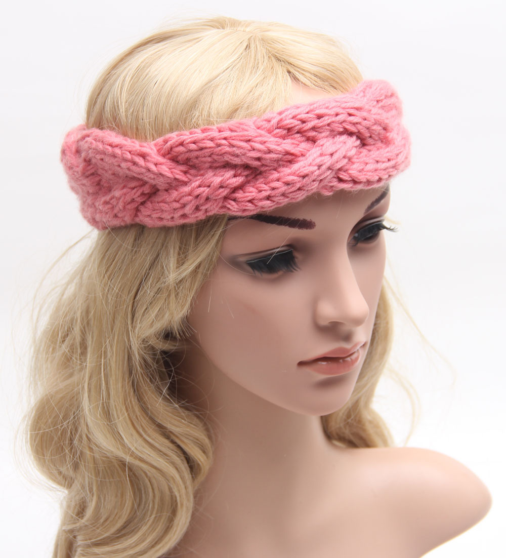 Braided Knitted Headband Knit Hair Band Turban Headband Knitted Ear Warmer Womens Winter ...
