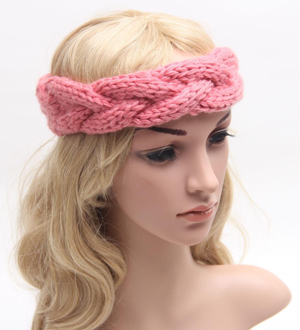 Braided Knitted Headband Knit Hair Band Turban Headband Knitted Ear ...