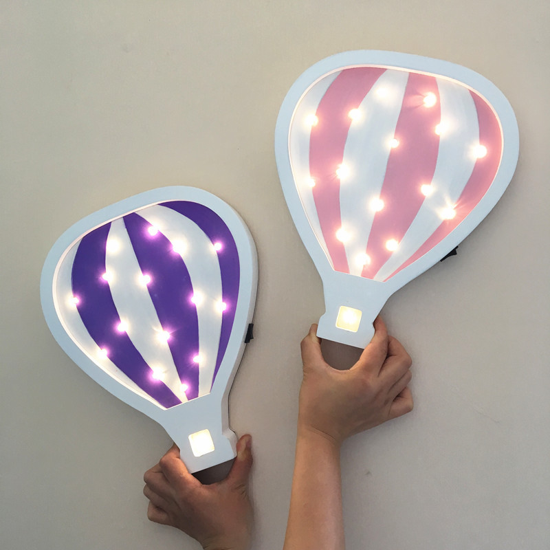 LED Cartoon Hot Air Balloon Wall Lamp for Baby kids gift Modeling Night Light Festival Home Cute Indoor Wall Light desk lamp litake dimmable hot air balloon led night light children baby nursery lamp with touch switch usb rechargeable wall lamp