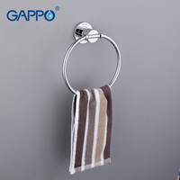 Gappo 1 Set Modern Style Gold Ring Wall Mount Towel Ring Bathroom Accessories Bath Towel Holder