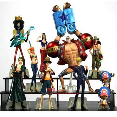 10pcs/set one piece PVC Action figure toys 2 years later  full set Large Doll model 10pcs set anime cute one piece 2 years later pvc acton figure model collection toys dolls op075