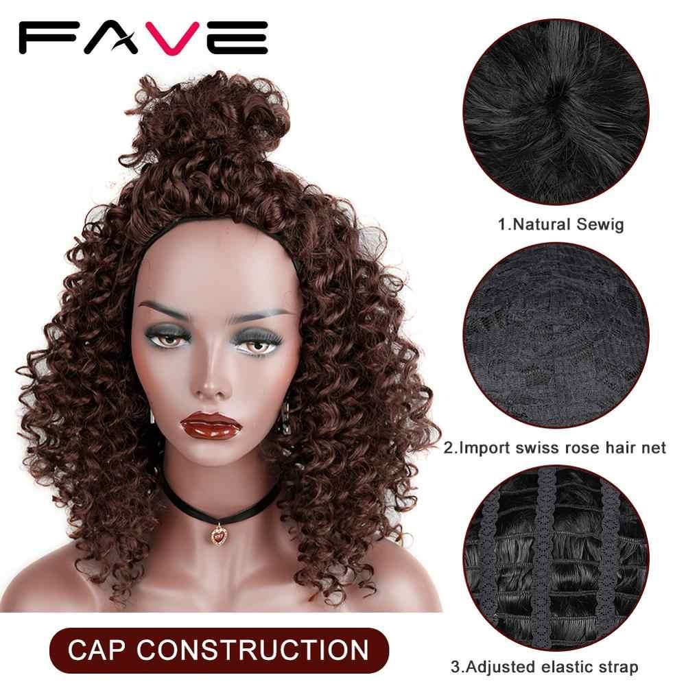 FAVE 16 Polegadas Afro Cacheados Peruca Sintética para As Mulheres Negras Ombre Cinza/Roxo/Azul Natural Preto de Alta Densidade perucas de Cabelo curto