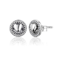 CKK Earrings for women Forever Hearts Stud Earring BrincoS 925 Sterling Silver Jewelry Pendientes Earings Orecchini Oorbellen