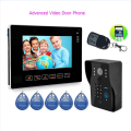 "Advanced HD 9"" TFT Door Monitor Video Intercom Home Door Phone Recorder System SD/TF Card Supported Waterproof Rain Cover"