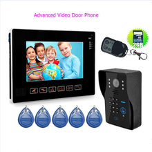 "Advanced HD 9"" TFT Wired Door Monitor Video Intercom Home Door Phone Recorder System SD/TF Card Supported Waterproof Rain Cover"