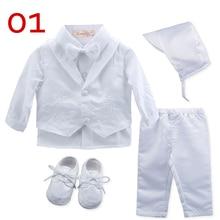 Одежда для маленьких мальчиков на крестины; белая одежда для новорожденных; Одежда для новорожденных; комплект одежды для новорожденных
