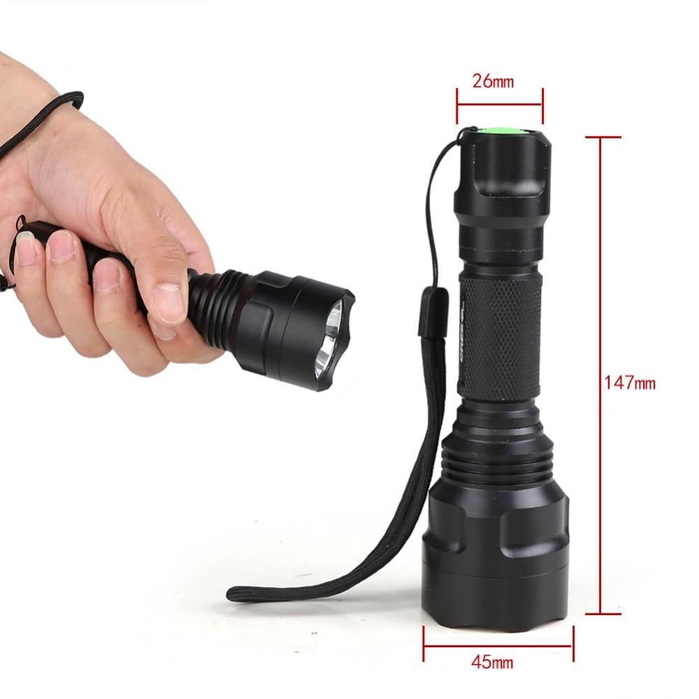 Tactical Flashlight C8-T6/L2/Q5 Hunting Rifle Torch Shotgun lighting Shot Gun Mount+mount+Remote Switch 18650 for Camping Hiking