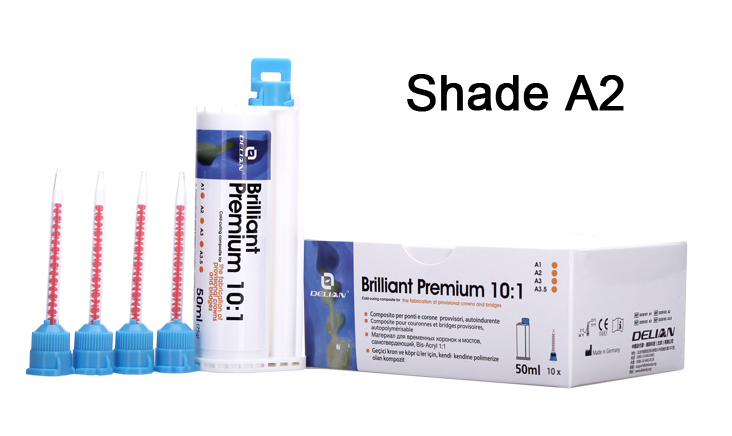 Brilliant Premium 10:1 Shade A2 Temporary Crown and Bridge Material Dental Product