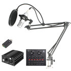 BM800 Condenser Microphone Kit Studio Microphone Vocal Recording KTV Karaoke Microphone Mic W/Stand For Computer Radio Singing