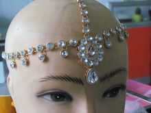 NEW STYLE  Kundan  rhinestone  head chain head jewellery wedding jewelry
