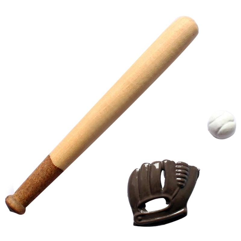 Kacakid 1: 12 DOLLHOUSE реалистичные мебель, мини-Бейсбол bat и Перчатки набор домашнего декора