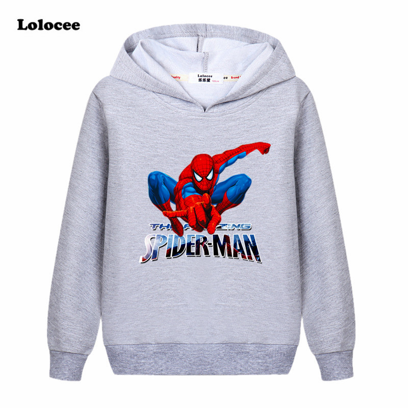2017 New Boys Spiderman T Shirt Kids Super Hero Autumn Cotton Long Sleeve Clothing Tops Children Causual Clothes Cool Hoodies стоимость