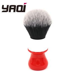 Image 1 - Pennello da barba Yaqi 26mm, versione bianca, rigida, con nodo smoking