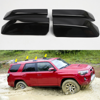 Exterior Accessories Black Front&back Top Roof Rails Rack End Cap Cover Shell Trim 4pcs For Toyota 4Runner N280 2010 2018